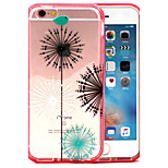 2-in-1 Double Color Fireworks Pattern TPU Back Cover with PC Bumper Shockproof Soft Case for iPhone 6/6S