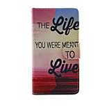 Printed English Letters PU Leather Full Body Case with Stand for Sony Xperia M4 Aqua