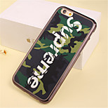 Green Camouflage Pattern Plating TPU Phone Case for iPhone 6/6S