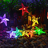 King Ro solar 21.32ft 30LED Cute Starfish Shape Christmas Parties Decoration Light Outdoor Waterproof  String Lights