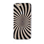 Black Color Bar Pattern Transparent Phone Case Back Cover Case for iPhone6/6S