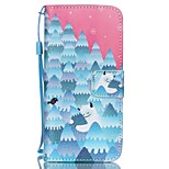 HZBYC®Forest Snowman Pattern PU Material Card Lanyard Case for iPhone 6/6S