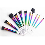 11pcs Rainbow Color Brush Set