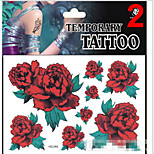 Temporary Tattoos Stickers Non Toxic Glitter Waterproof Multicolored Glitter 1 Package 17*16CM Rose Wing