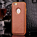 HZBYC®New Luxury Genuine Leather Case for Metal Integrated Frame Case for Apple iPhone 6/6S 4.7(Assorted Colors)