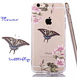 Plum Flower TPU+Acrylic Anti-Scratch Backplane Combo Phone Case for iPhone 6/6S