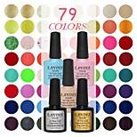 Choose 3 Piece LANDLE Soak Off UV Nail Gel Polish 79 Color Gel LED Manicure Gel
