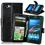 Crazy Horse PU Leather Stand Case Cover with Card Slots for Sony Xperia Z1 Compact D5503 (Assorted Colors)