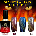 1PCS Starry Cat Eyes Color Gel 15ml 12Colors Long Lasting Nail Polish 10-12