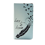 Feather with Dream PU Leather Full Body Case with Stand for Sony Xperia M4 Aqua