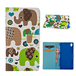 Elephant Pattern Card Stand Leather Case for Sony Xperia Z3/Z4