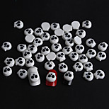 50 / Bag Of White Resin Skull Manicure Resin Accessories