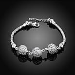 MISSING U Copper / Silver Plated Bracelet Chain & Link Bracelets / Wrap Bracelets Daily / Casual 1pc