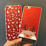 Christmas Pattern Acrylic Back Cover Case for iPhone6/6S