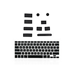 Silicone Anti Dust Port Plugs + Matching Keyboard Cover for Macbook 13