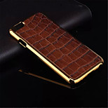 High Quality Plating Golden PC+ PU Leather Material Phone Shell For iPhone 6(Assorted Color)