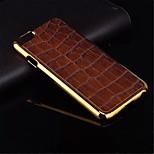 placcatura di alta qualità del pc dorato + materiale cuoio dell'unità di elaborazione coperture del telefono per iPhone 6 (colori