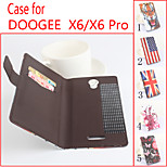 Flip Leather Magnetic Protective Case For DooGee X6/X6 Pro(Assorted Colors)