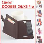 cuoio di vibrazione custodia protettiva magnetica per doogee x6 / x6 pro (colori assortiti)