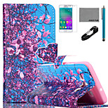 COCO FUN® Flower Tree Sky Pattern PU Leather Case with V8 USB Cable, Flim and Stylus for Samsung Galaxy A3