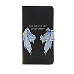 Printed Wings PU Leather Wallet Full Body Case with Stand for Sony Xperia M4 Aqua