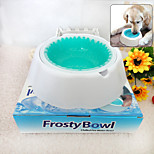 Cold Drink Bowl Pet Cool Refreshing Green Bowl (White And Green)