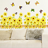 Sunflowers Corner Wall Stickers