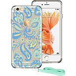 ESR® Totem Series Shock Absorbent TPU Corner Protection + Hard PC Back Protective Case for iPhone 6/6s -Cyan Paisley