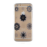 Elegant Design Pattern Transparent Phone Case Back Cover Case for iPhone6/6S