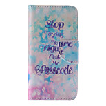 The New Blue Letters PU Leather Material Flip Card Cell Phone Case for iPhone 6 /6S