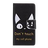 Black Cat Painted PU Phone Case for Huawei P8 Lite/P8