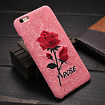 High-End Blooming Red Roses PP Hand Embroidery Phone Case for iPhone 6/6S(Assorted Colors)