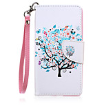 New Lanyard  Tree Pattern PU Leather Material Phone Case for Huawei P8 Lite