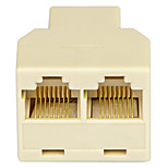 Shengwei® RS-412 RJ45 1 Male Port to 2 Female port Connection Adapter for Telephone