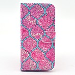 Rose Flower Pattern PU Leather Stand Case Cover with Card Slot for iPhone 6/6S 4.7 Inch