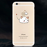 Cat People Pattern TPU Soft Phone Case for iPhone 6/6S