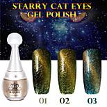 1PCS KOUYI Starry Cat Eyes Color Gel 12ml 12Colors Long Lasting Nail Polish 1-3