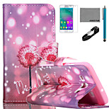 COCO FUN® Firefly Dandelion Pattern PU Leather Case with V8 USB Cable, Flim and Stylus for Samsung Galaxy A3