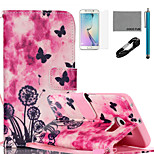 COCO FUN® Dandelion Pattern PU Leather Case with V8 USB Cable, Flim, Stylus and Stand for Samsung Galaxy S6 edge