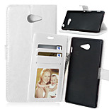 Crazy Horse PU Leather Wallet Stand Case Cover with Card Slots for Sony Xperia M2 D2303 D2305 D2306 (Assorted Colors)