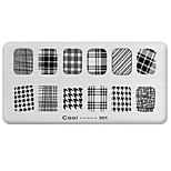 1Pcs 2015 New Foreign Hot Manicure Printing Plate Manicure Rectangular Multi Pattern Stamp Tool 1-36