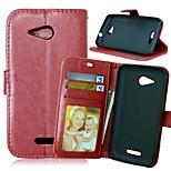 cavallo pazzo pu wallet del basamento della copertura della cassa con slot per schede per Sony Xperia E4G E2003 / E2033 dual (colori