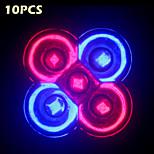10w complète du spectre de 10pcs e27 / gu10 3RED + 2blue LED lampes pour système de culture hydroponique de fleurs de plantes