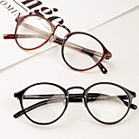 [Free Lenses]   Acetate/Plastic / Metal Round Full-Rim Classic / Retro/Vintage / Fashion Prescription Eyeglasses