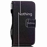 The New Nothing Pattern Lanyard PU Leather Material Flip Card Cell Phone Case for iPhone 5 /5S
