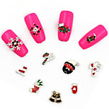 10Pcs The New Nail Christmas Alloy Jewelry Metal Nail Nails Posted Many Spot Mix Hair