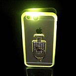 llamando sentido llevó la luz del flash con anillo de diamantes soporte material de TPU acrílico 2 en 1 caso de la cubierta para el iphone