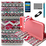 COCO FUN® Tribal Rose Pattern PU Leather Case with V8 USB Cable, Flim and Stylus for Samsung Galaxy Grand Prime G530