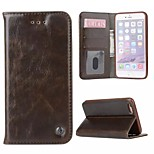 Luxury Crazy Horse Skin Card Slot Leather Wallet Phone Bag Case with Stand and Photo Frame for Iphone 6/6s