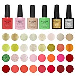 Choose 6 Piece LANDLE Soak Off UV Nail Gel Polish 79 Color Gel LED Manicure Gel